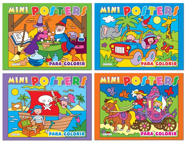 Mini posters para colorir