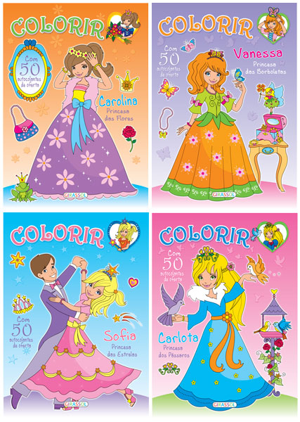 Colorir as Princesas - 50 autocolantes de oferta