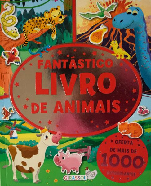 Fantástico livro de animais com autocolantes
