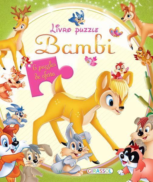 Livro Puzzle-Bambi