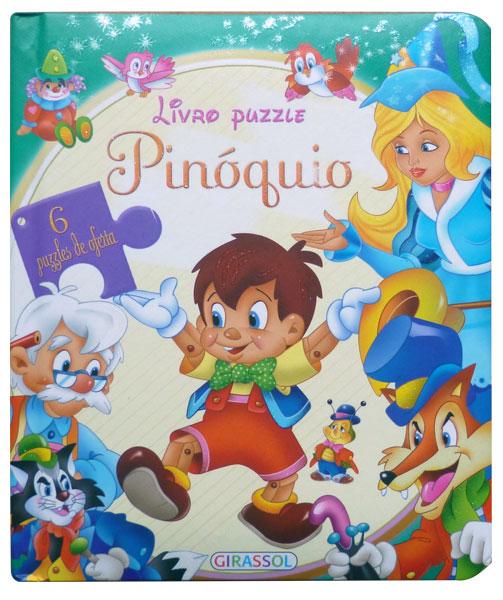 Livro Puzzle Pinóquio