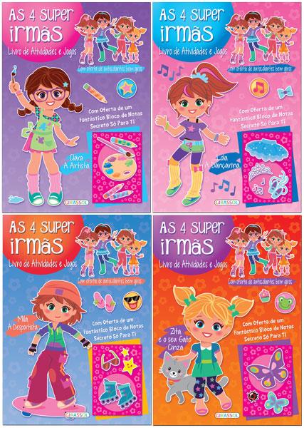 As 4 Super Irm�s - Livro de atividades e Jogos
