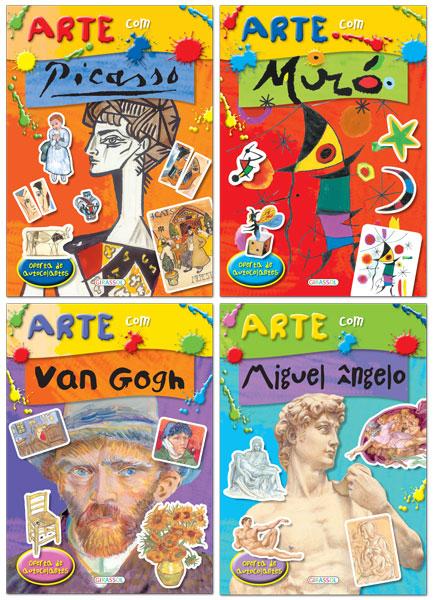 Arte com Picasso, Miró, Van Gogh e Miguel Ângelo