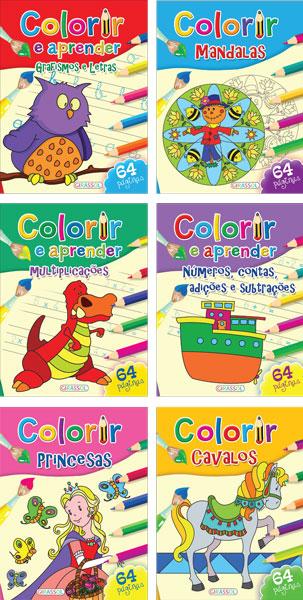 Colorir e Aprender - Cx.18 exemplares