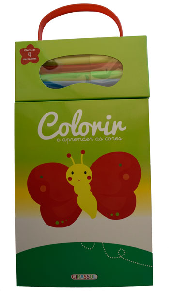 Colorir e Aprender as Cores-Verde-Borboleta