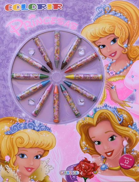 Colorir Princesas com lápis de cor