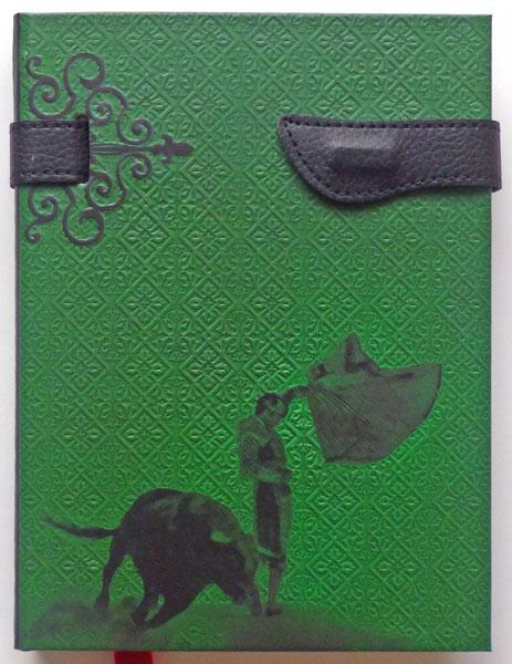 Caderno Taurina Rayado Verde